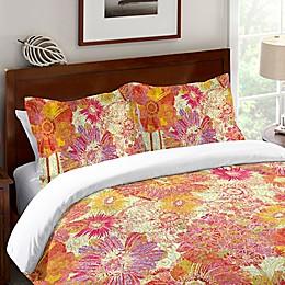 Laural Home® Full Bloom Standard Pillow Sham in Orange