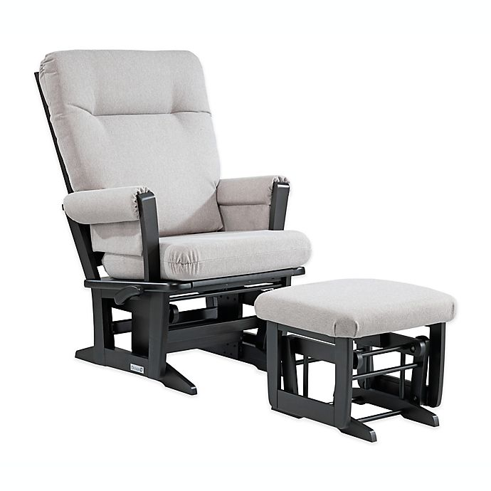Alternate image 1 for Dutailier® 827 Square Back Glider and Ottoman Combo in Espresso/Grey