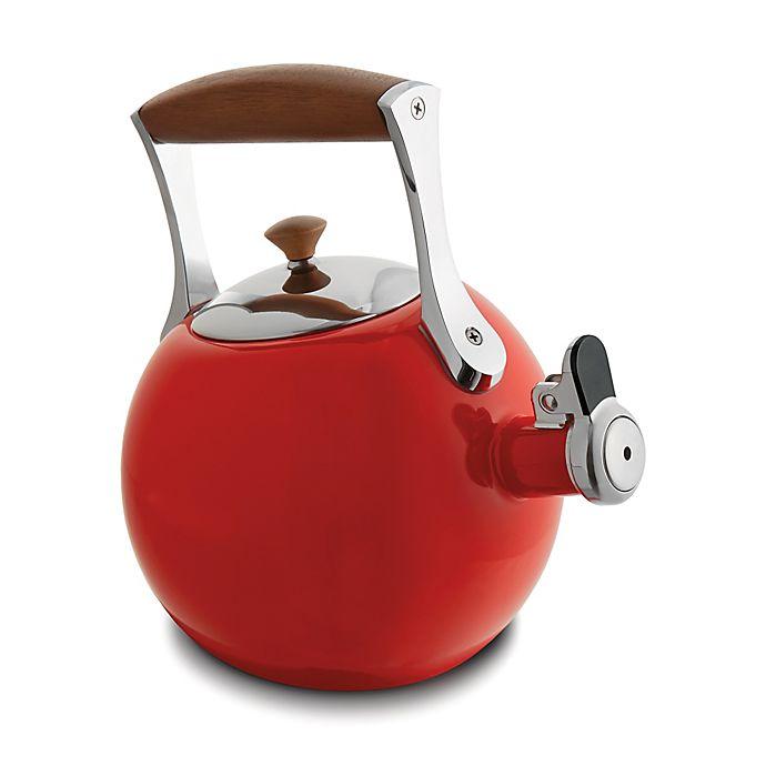 Alternate image 1 for Nambe Meridian 2 qt. Enamel on Steel Tea Kettle