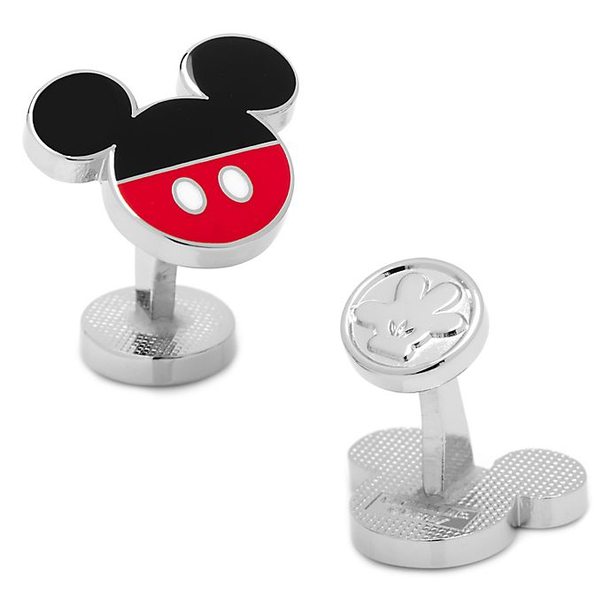 Alternate image 1 for Disney® Silver-Plated Mickey Mouse Logo Pants Cufflinks