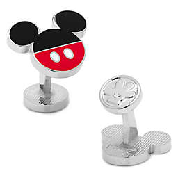 Disney® Silver-Plated Mickey Mouse Logo Pants Cufflinks