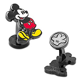 Disney® Black-Plated Classic Mickey Mouse Cufflinks
