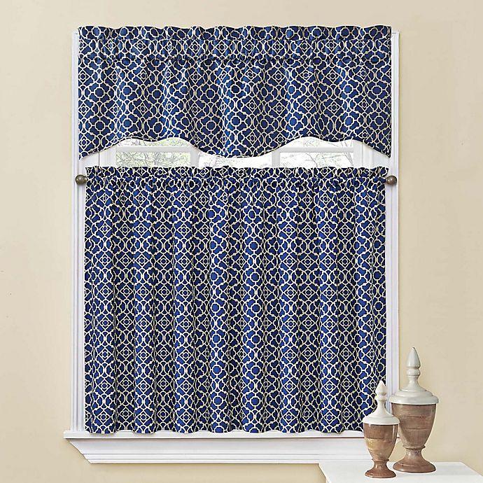 Waverly® Lovely Lattice Kitchen Window Curtain Tiers and Valance