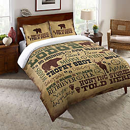 Laural Home® Welcome to the Lodge Comforter in Brown