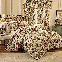 Waverly® Laurel Springs Reversible Comforter Set in Parchment