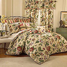 Waverly® Laurel Springs Reversible Comforter Set in Parchment