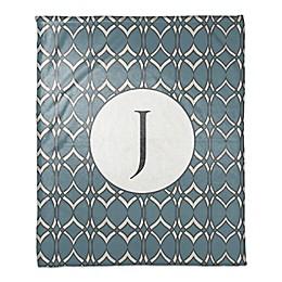 Cool Geometric Throw Blanket in Blue/White