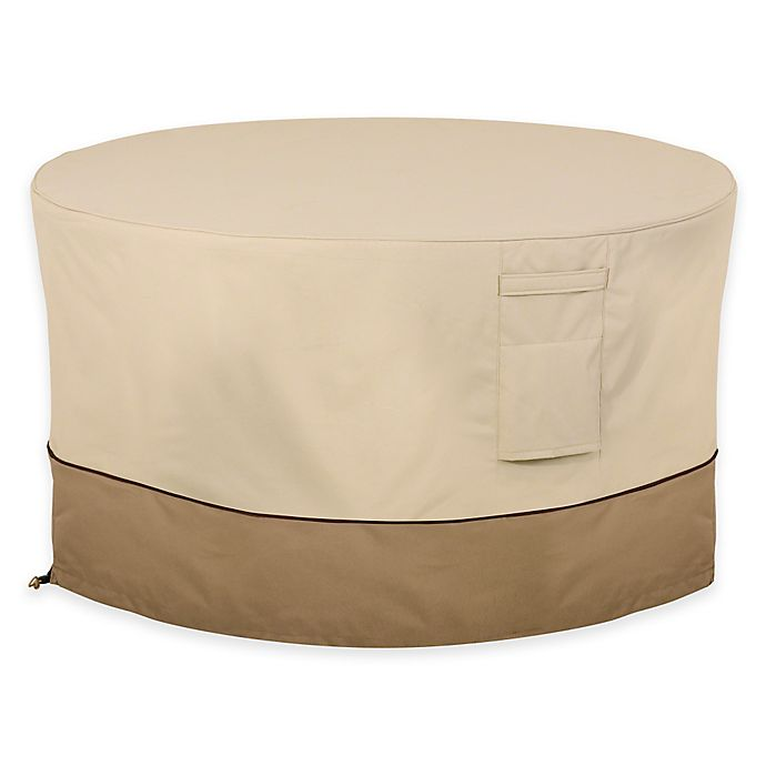 Alternate image 1 for Classic Accessories® Veranda Full Coverage Firepit Table Cover