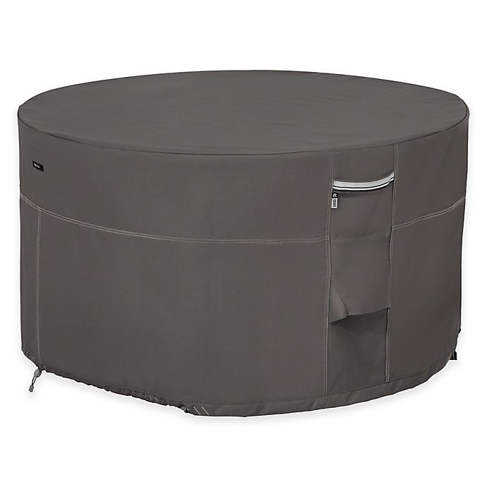 Alternate image 1 for Classic Accessories® Ravenna Outdoor Patio Firepit Table Cover in Taupe