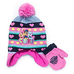 Warner Bros.® 2-Piece Paw Patrol Hat and Mitten Set in Pink