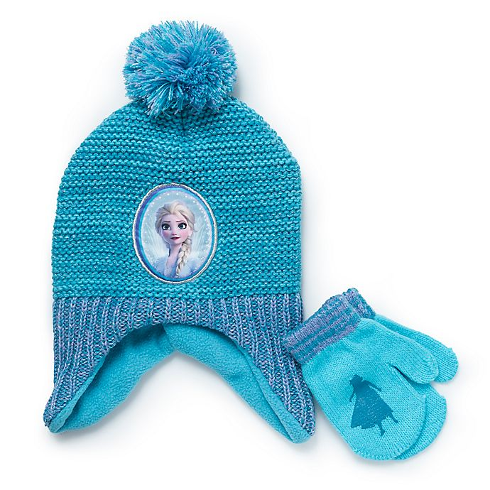 Alternate image 1 for Disney® Frozen 2-Piece Hat and Mitten Set in Teal