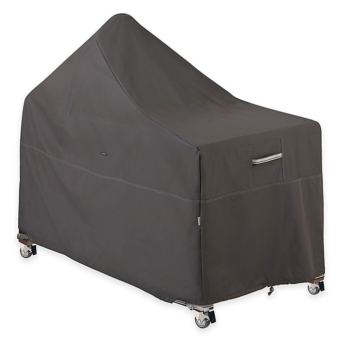 Alternate image 1 for Classic Accessories® Ravenna Outdoor BBQ Grill with Offset Table Cover in Taupe