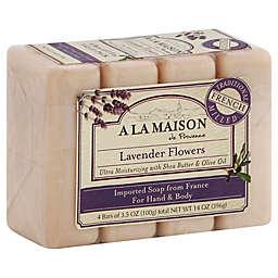 A La Maison de Provence 4-Pack 3.5 oz. Lavender Flowers Bar Soaps for Hand & Body