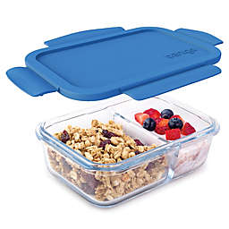 bentgo® Glass 14.2 oz. Portable Snack Box in Blue