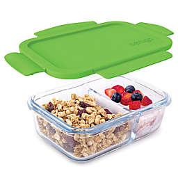 bentgo® Glass 14.2 oz. Portable Snack Box in Green