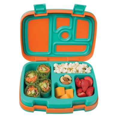 Bentgo Kids Brights 5-Compartment Bento Lunch Box, Orange