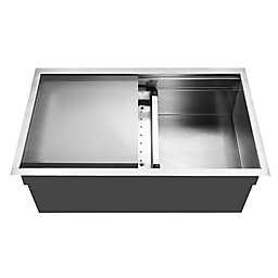 Houzer NVS-5200 Novus Series Undermount Dual Level Single Bowl Kitchen Sink
