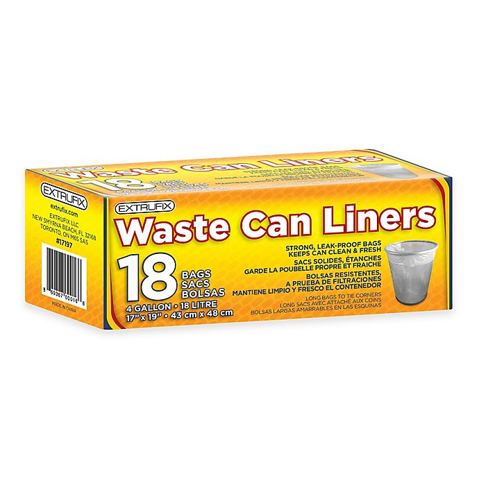 Alternate image 1 for 4 Gallon 18-Count Waste Can Liners