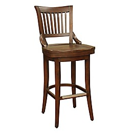 American Heritage Liberty Swivel Stool in Brown