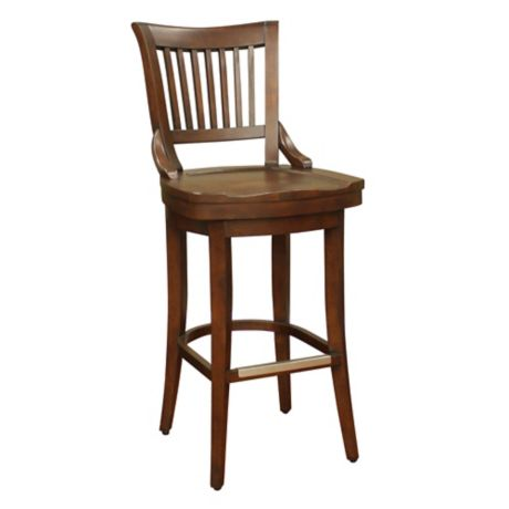American Heritage Liberty Swivel Stool In Brown Bed Bath
