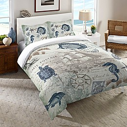 Laural Home® Seaside Postcard Bedding Collection