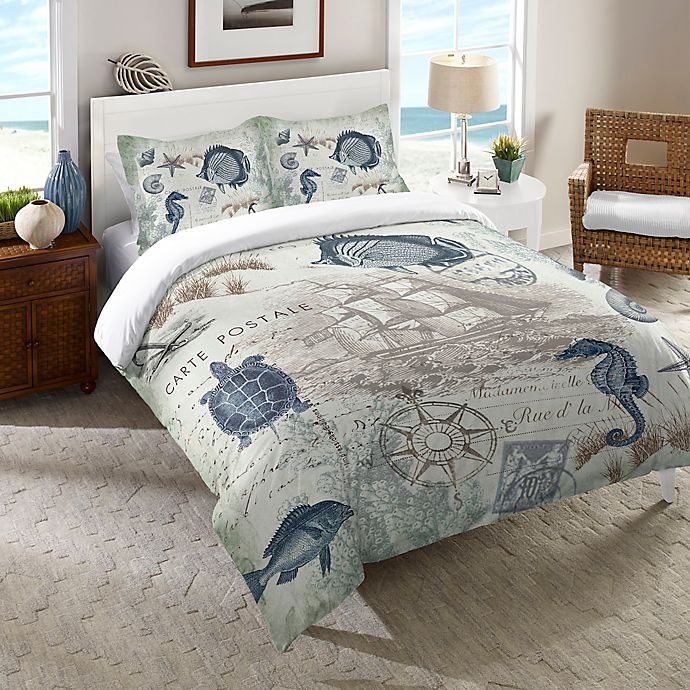 Alternate image 1 for Laural Home® Seaside Postcard Bedding Collection