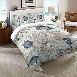 Laural Home® Seaside Postcard Pillow Sham in Green