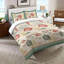 Laural Home® Seaside Postcard Comforter in Green