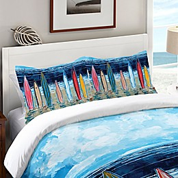 Laural Home® Surfboards Standard Pillow Sham in Blue