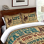 Laural Home® Welcome to the Ranch Standard Pillow Sham in Brown