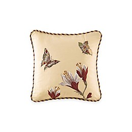 Waverly® Laurel Springs Embroidered Square Throw Pillow in Parchment
