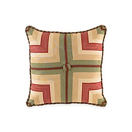 Waverly® Laurel Springs Button Tufted Square Throw Pillow in Parchment