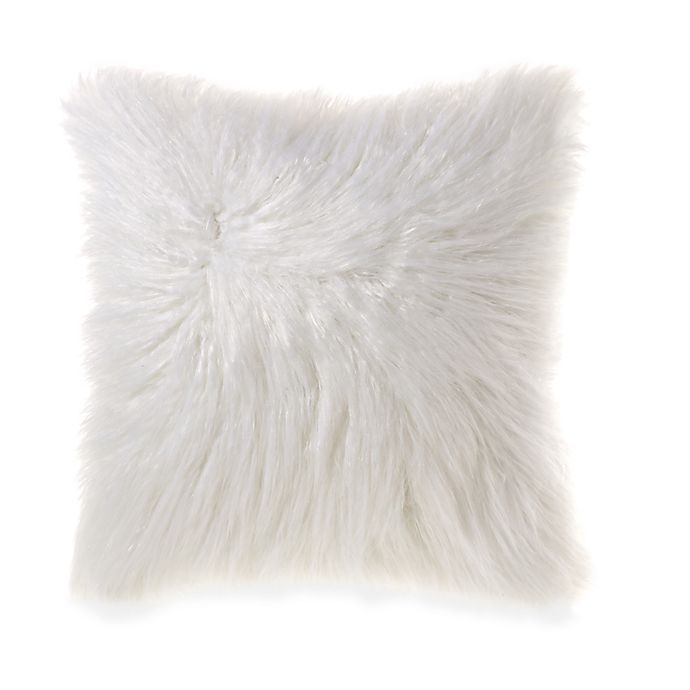 Alternate image 1 for Flokati Faux Fur 18-Inch Square Throw Pillow