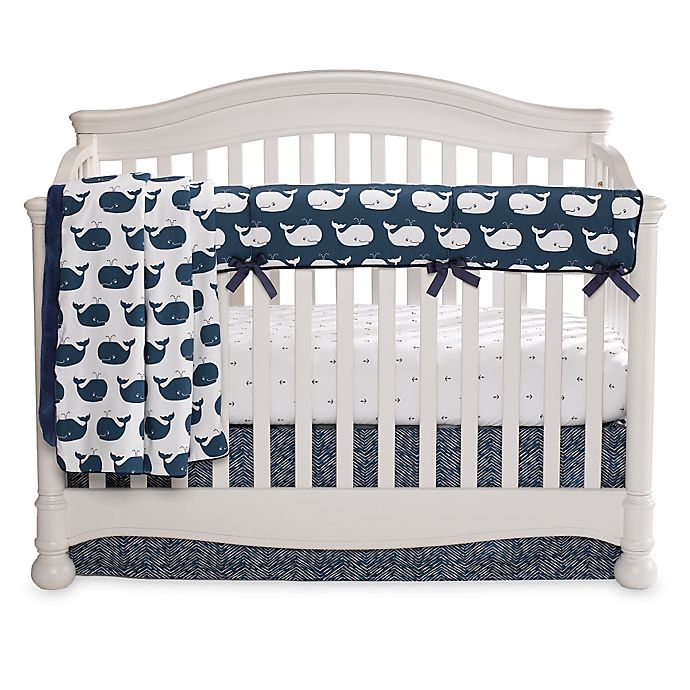 Alternate image 1 for Liz and Roo Nautical Whales 3-Piece Crib Bedding Set
