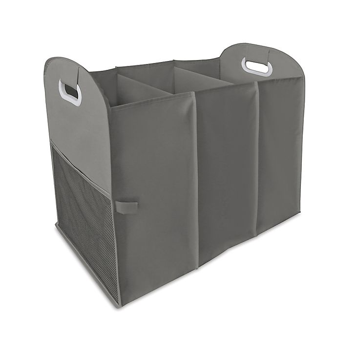 Alternate image 1 for Homz Accordion Hamper in Grey