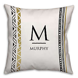 Modern Tribal Square Throw Pillow