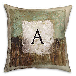 Earth Toned 16-Inch Square Throw Pillow in Green/Brown