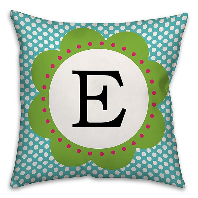 Wondrous Lively Polka Dot Square Throw Pillow In Blue Green Buybuy Baby Machost Co Dining Chair Design Ideas Machostcouk