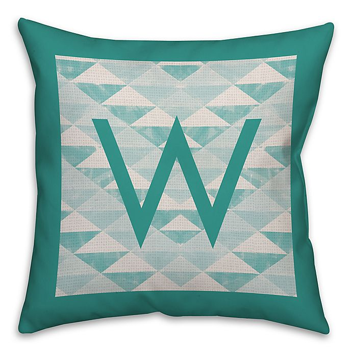 Alternate image 1 for Geo 18-Inch Square Throw Pillow in Turquoise