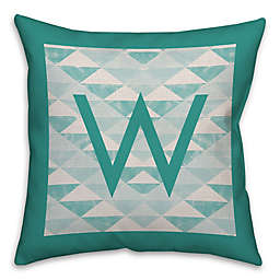 Geo 18-Inch Square Throw Pillow in Turquoise