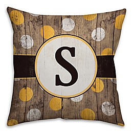 Polka Dot Square Throw Pillow