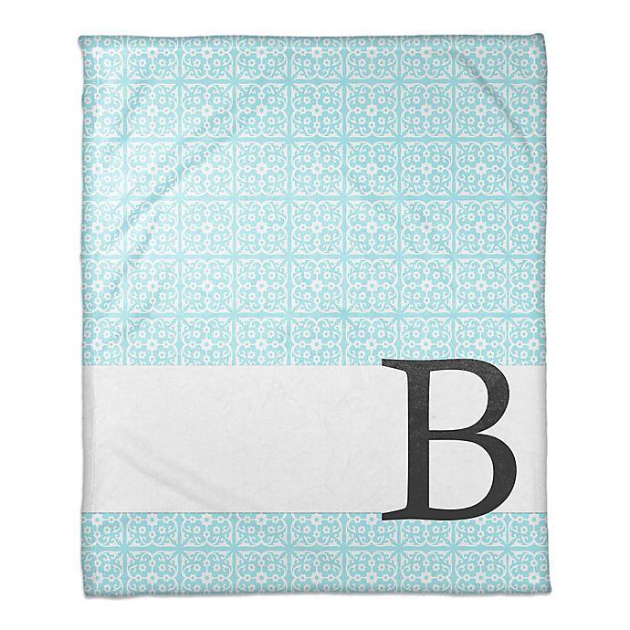 Alternate image 1 for Medallion Throw Blanket in Blue