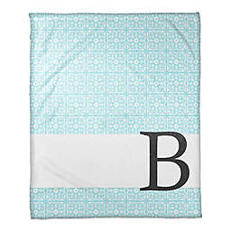 Medallion Throw Blanket in Blue