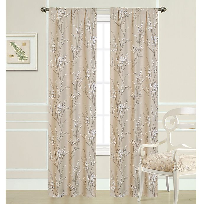 Laura Ashley® 84-Inch Pussy Willow Window Curtain Panel