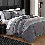 Chic Home Elijah 12-Piece King Comforter Set in Aqua
