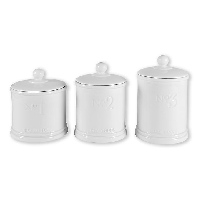 Alternate image 1 for Everyday White® Numbers Canisters