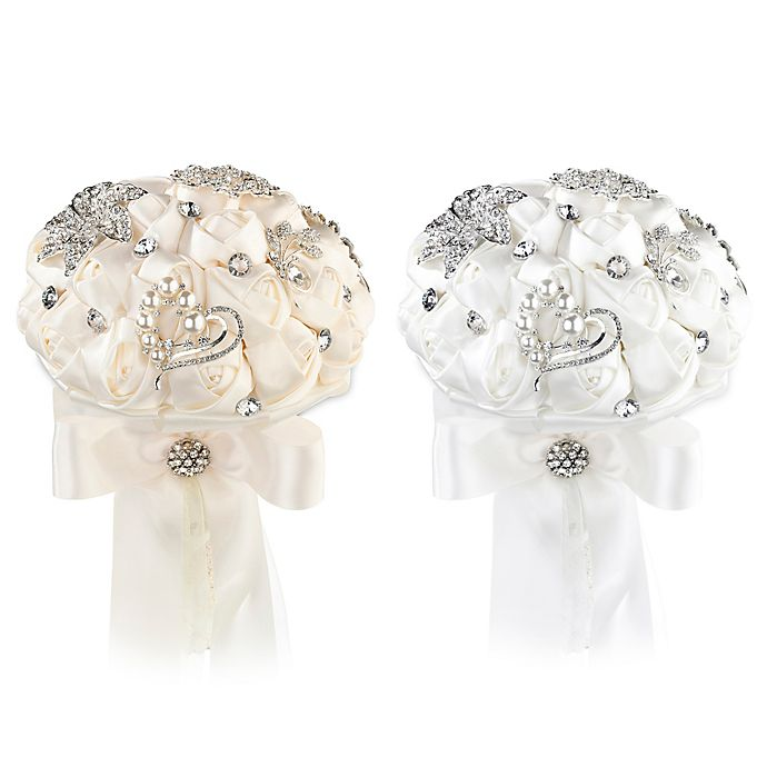 Alternate image 1 for Lillian Rose™ Crystal Flower Bouquet