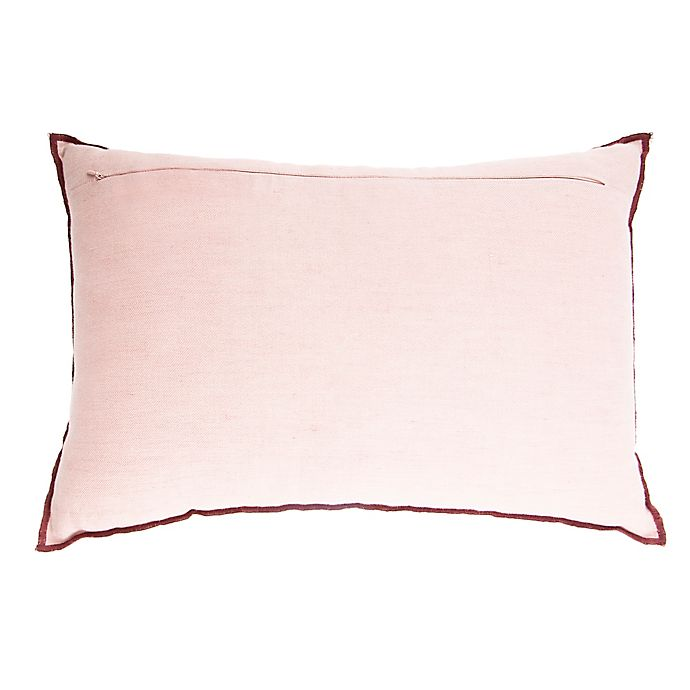 Alternate image 1 for O&O by Olivia & Oliver™ 14-Inch x 20-Inch Throw Pillow in Terracotta/Blush