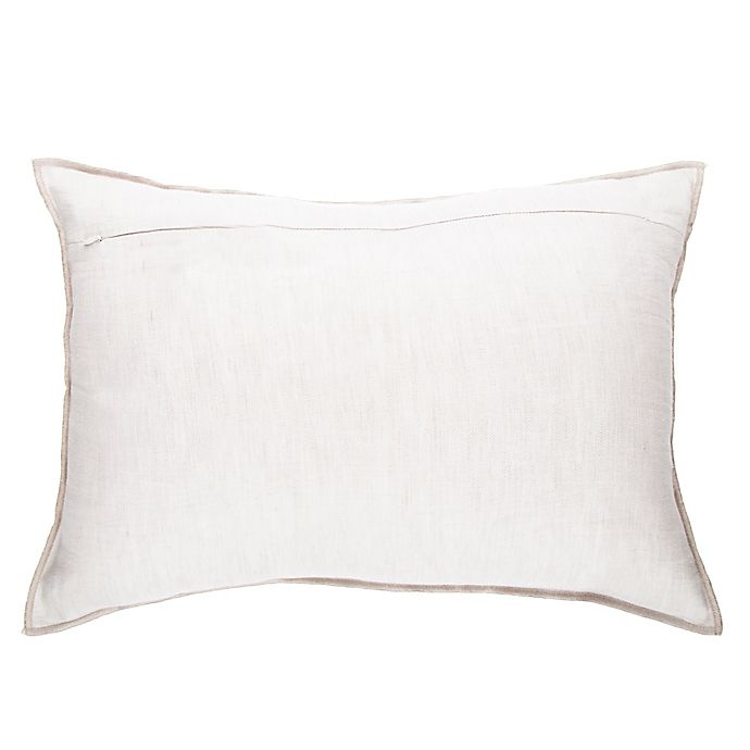 Alternate image 1 for O&O by Olivia & Oliver™ Solid Oblong Throw Pillow in Mink/Flax