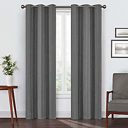 Eclipse Ronneby 95-Inch Grommet Blackout Window Curtain Panel in Black